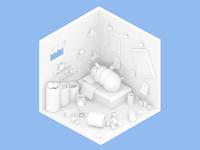 Room Render | ant