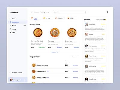 Foodholic : Part 1 webapplication design inspiration uiux user experience webdesign food delivery food ordering app food app