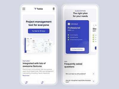 Taskee : Mobile Responsive app mobile responsive user experience user interface uiux project management task management mobile ui app design creative  design design inspiration
