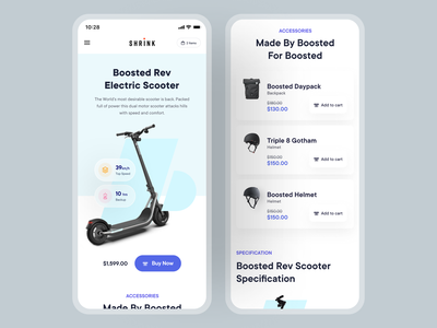 Product Landing Page: Mobile Responsive minimal web graphics website web design ux gadget scooter product page user experience design inspiration ui user interface