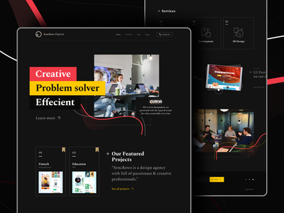 Digital Agency Home Page I SyncRows design agency design inspiration graphic design ui ux design user interface agency branding landing page trend2021 trendy minimal ui clean creative agency agency landing page agency web ui web design web