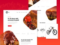 Cycle Mania : Landing Page Design Concept