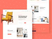 Core: Furniture Landing Page Design