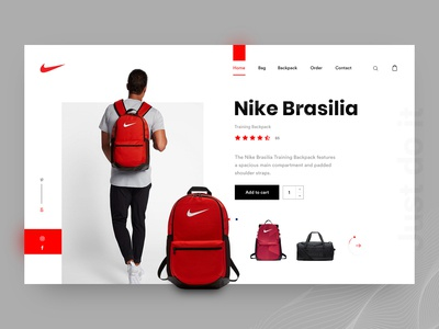 Nike: Bag & Backpack Header Exploration