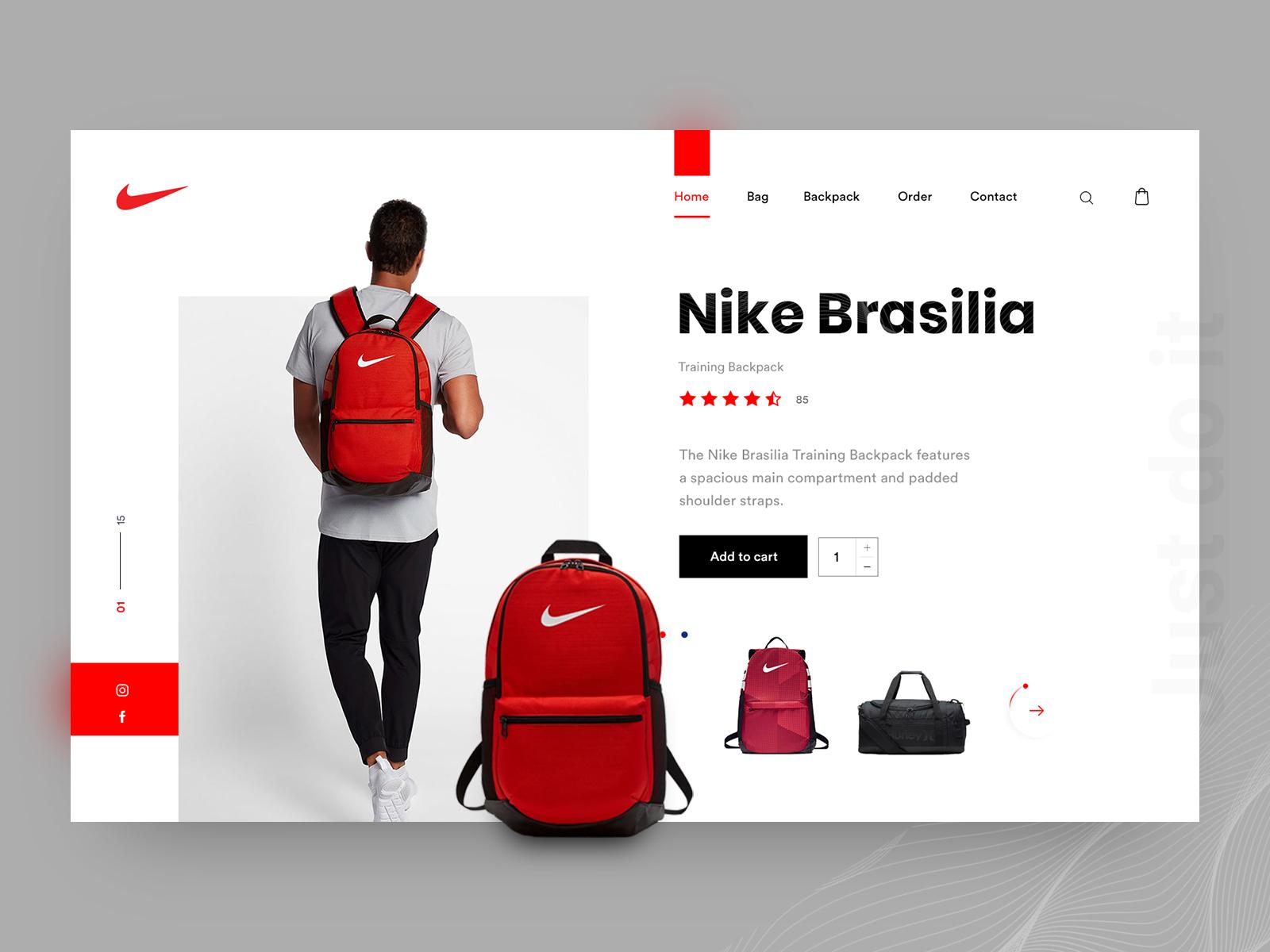 Nike Bag Backpack Header Exploration By Arafat Ahmed