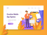 Spark : Agency header concept