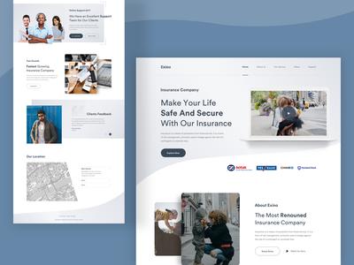 Exino Insurance : Landing Page Concept