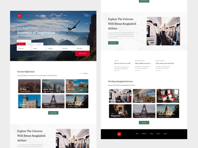 Full Landing Page Interaction - Behance Case Study ux ui creative  design minimal web user experience design inspiration ui ux airlines redesign web design ui desgin travel app travel flight booking flight app case study booking behance project behance