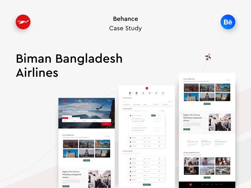 Biman Bangladesh Airlines Ux Case Study By Arafat Ahmed Chowdhury On Dribbble