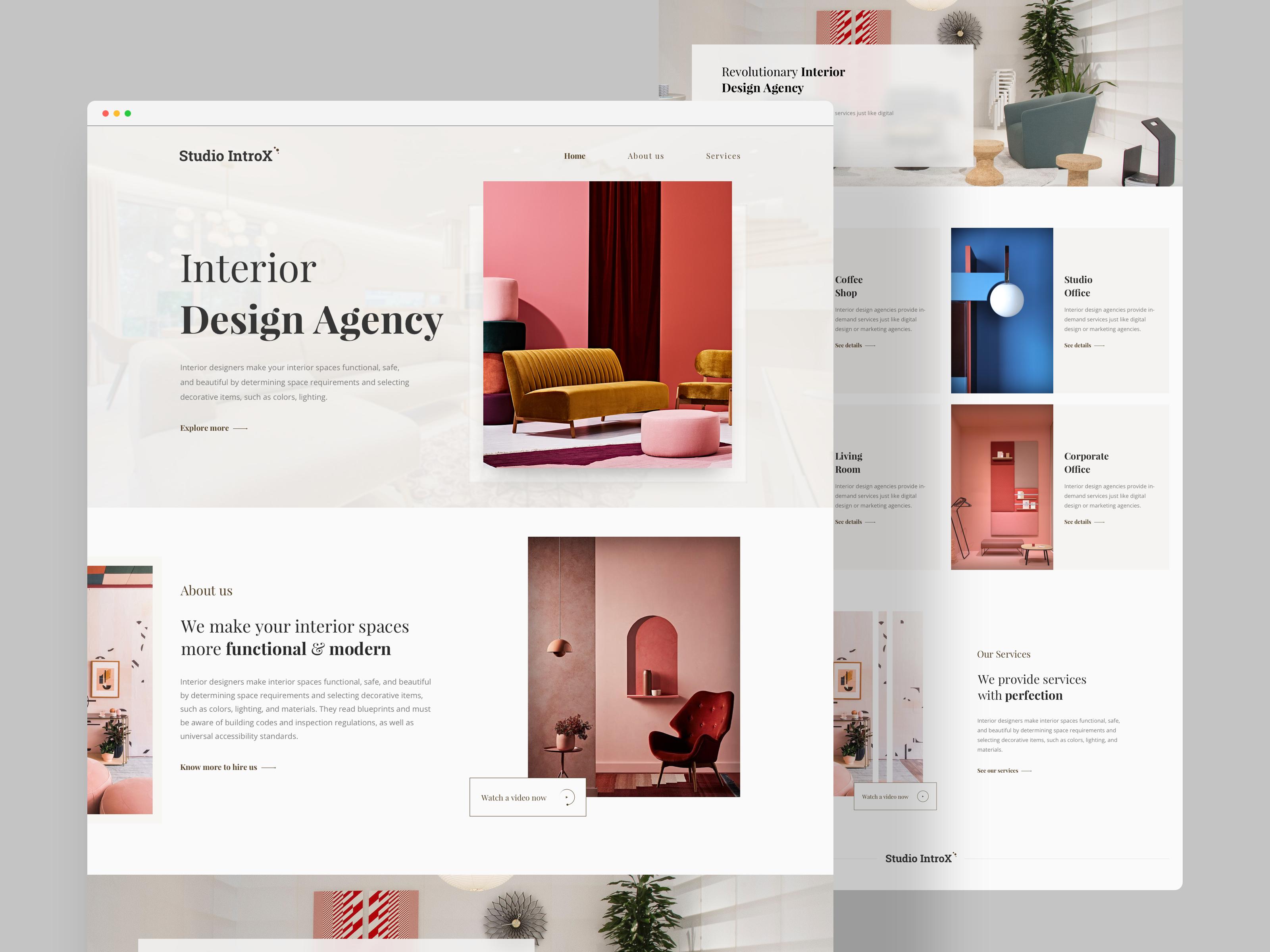 Interior Design Agency Landing Page