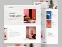 Interior Design Agency : Landing page concept