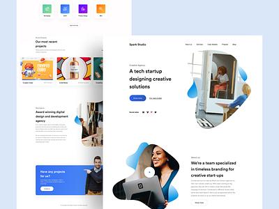 Agency Landing page designinspiration minimal user experience ux ui branding agency website agency webdesign design user interface
