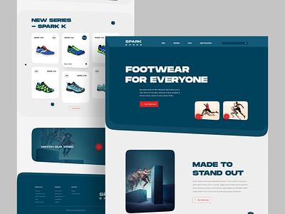 Home Page Exploration web creativedesign ux ui design inspiration user experience userinterface website webdesign landingpage footwear shoe
