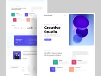 Creative Studio : Home Page Exploration