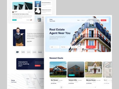 Real Estate Agency : Home Page Exploration minimal ui ux ui design inspiration creative  design property search buy house user experience user interface homepage web agent real estate