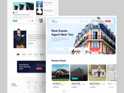 Real Estate Agency : Home Page Exploration