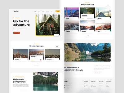 Travel Agency : Home Page Exploration design inspiration creative design minimal user experience visual design userinterface webdesign travel app travel