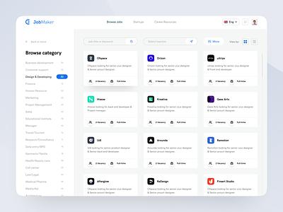 JobMaker : Web App Concept creative  design minimal uiux ux ui userinterface design userinterface web app web job portal