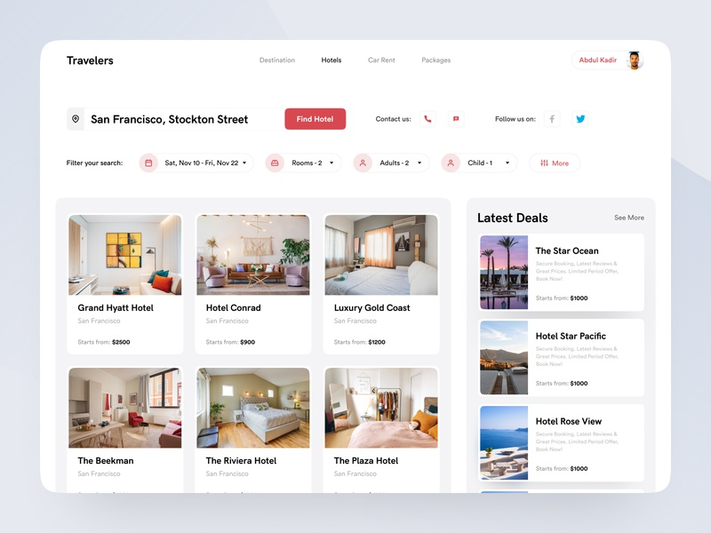 Hotel booking concept - Part 1 travel agency ui design creative  design ux ui user experience design inspiration booking app traveling interaction application web app web hotel booking app booking hotel