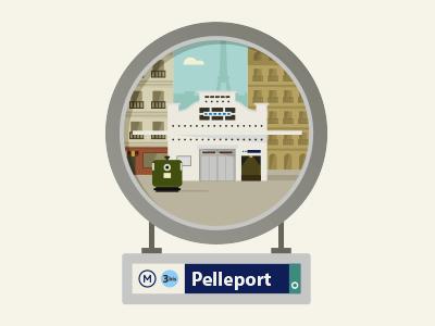Paris pelleport metro entrance