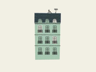 La Maison paris illustration house