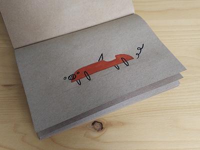 Les Voitures Sketchbook ink acrylic car sketch illustration