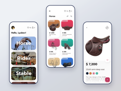 E-commerce concept: equestrian shop cwd equestrian e-commerce design e-commerce app app design ios app design mobile app design concept