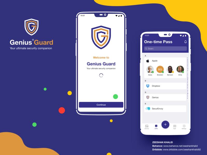Genius Authenticator mobile app design mobile app ux authenticator authentication