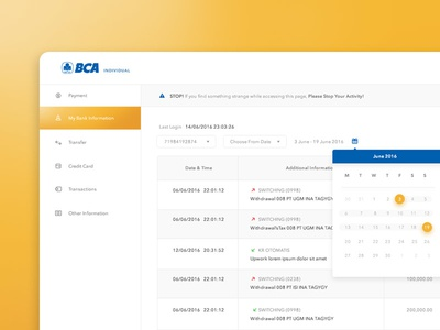 i-Banking BCA Individual Redesign