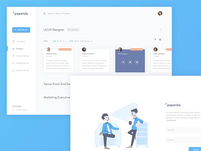 Recruitment - Dashboard and Login management employee login system hiring recruitment dashboard website design