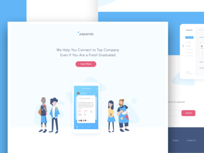 Recruitment - Landing Page app page landing website recruitment mockup header illustration design