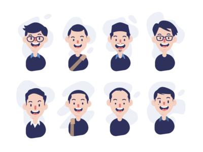 Dribbbler - Ndrenges folks fun character community smile illustration design player dribbble