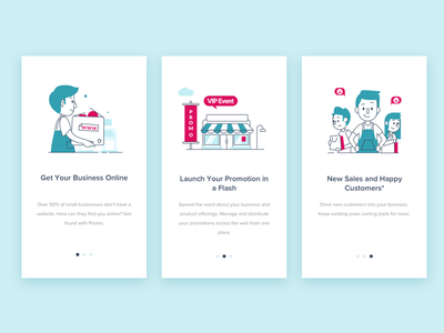 Promotion Onboarding small business store app promotion illustration design