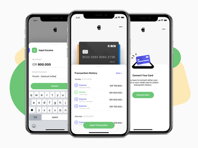 Tapwallet - See Where Your Money Go empty state modal box illustration app wallet iphonex ios design