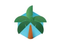 Palm Skeumorphism vibes summer palm skeumorphism skeumorphic illustration design