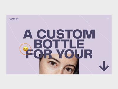 Curology 🥑 motion design landing after effects webdesign typography animation web motion ui design interface