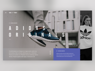 Gear of the Street blur shoes sneakers originals adidas interface ux ui street fashion clothing
