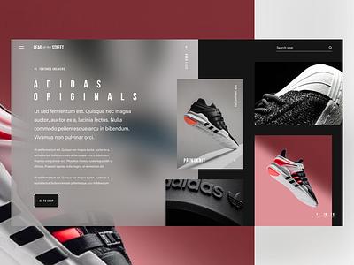 Adidas Originals - Part II - Sneakers retail sneakers shoes blur fashion adidas street ui ux interface