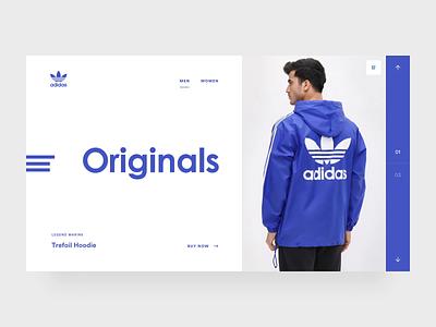 Adidas Originals sneakers clothing webshop adidas originals adidas web design webdesign interface ux ui