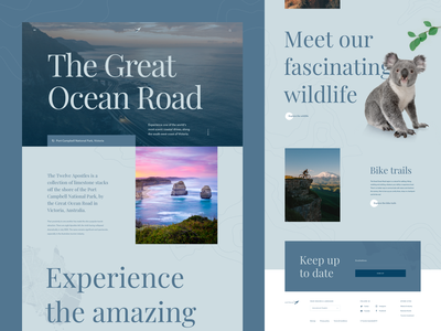 Australia - Great Ocean Road webdesign web travel typography nature wildlife australia ui design