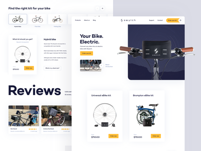 Swytch swytch interface ui webshop ebike bike electric webdesign