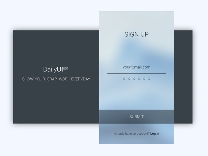 Sign up form  minimal modern travel submit screen sign up login ui clean card app
