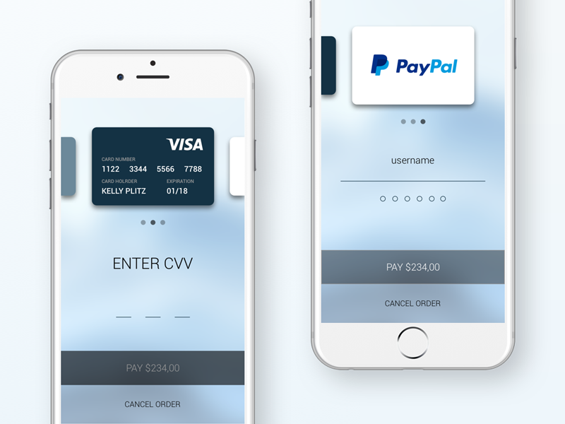Checkout screen app pay simple clean credit card paypal screen checkout ui