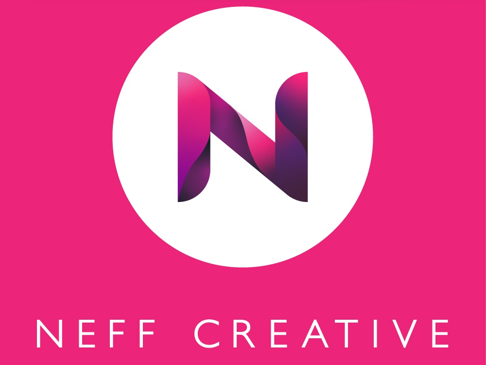 Neff Creative Square Logo Reversed vector typography type logo design logo illustration icon design branding