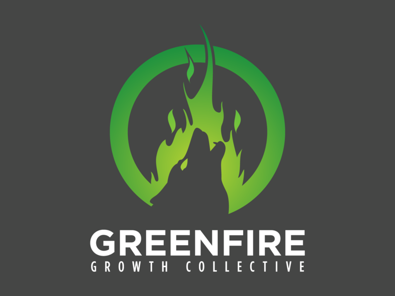Greenfire vector typography type logo design logo illustration icon design branding