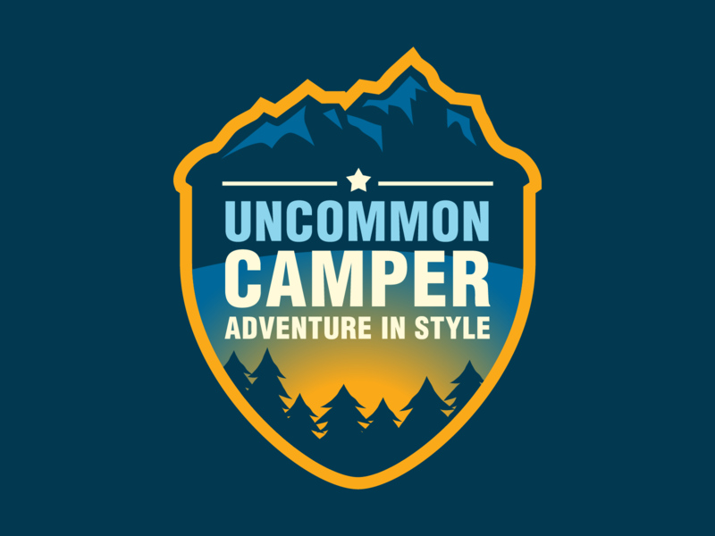 Uncommon Camper Logo vector typography type logo design logo illustration icon design branding