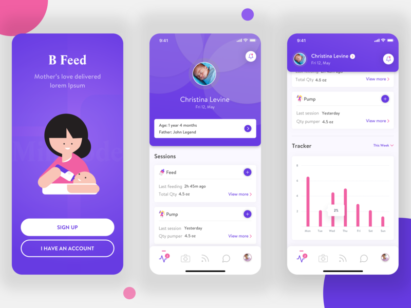 B Feed iphone x iphonex figmadesign figma vector illustration care chart baby care designs ios app ios dribbble uiux design concept app ux ui