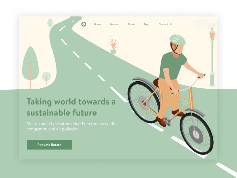 Rotato Concept typography branding adobe illustrator illustrations illustrator figma dribbble smart bicycle app bicycle cycle vector logo web illustration concept uiux design ux ui