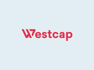 Westcap finance red clean logo design
