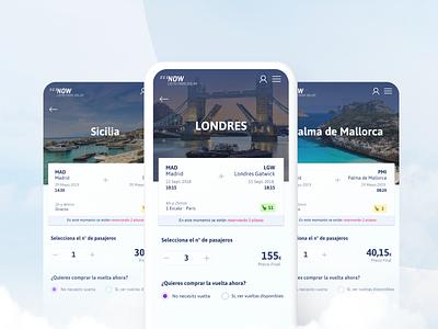 321Now Detail travel flyer web app ui design clean